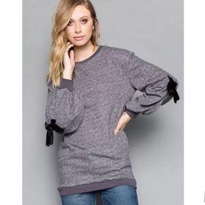 Tops - Grommet detail sweatshirt